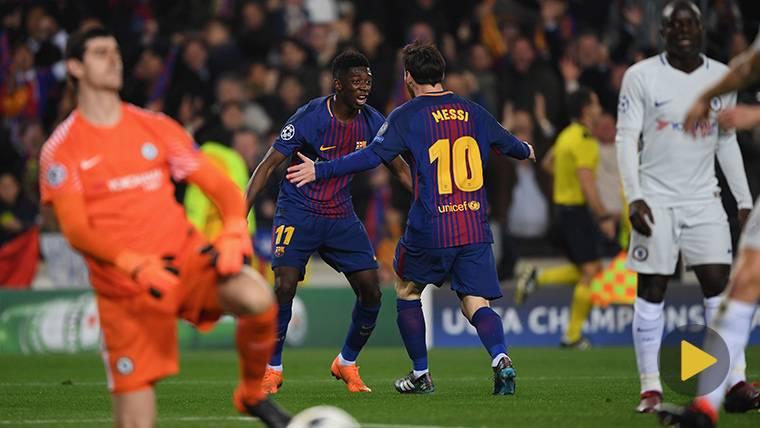Leo Messi y Dembélé lideran los mejores goles de la Champions