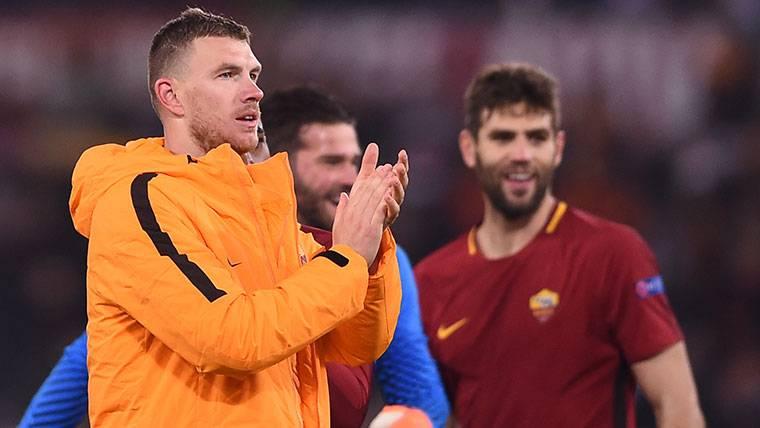 Ilusión de Dzeko por ganar al Barcelona en Champions League