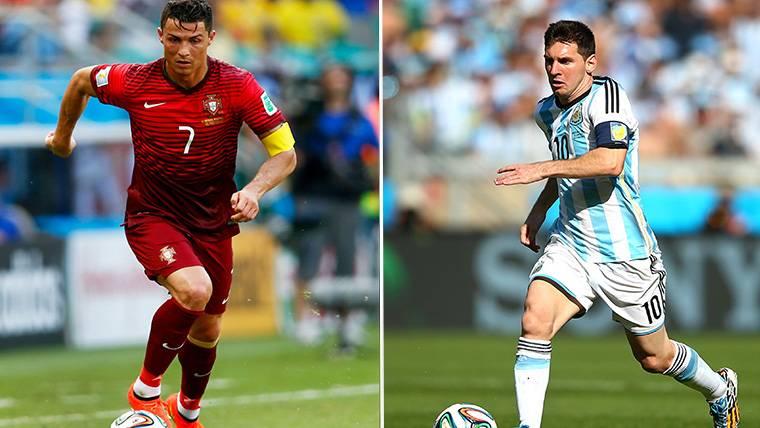 Argentina y Portugal, el foco de la otra pugna Messi-Cristiano