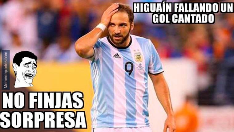Las redes sociales se ceban con Higuaín tras el España-Argentina