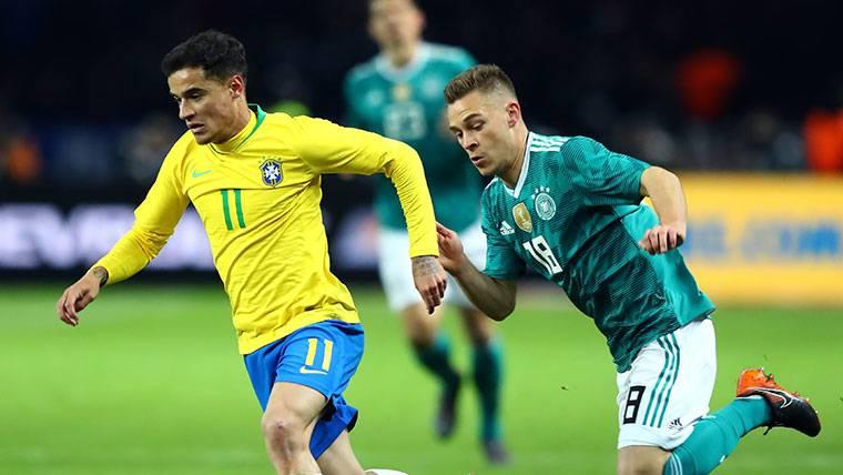 Brasil se venga de Alemania con un Coutinho brillante (0-1)
