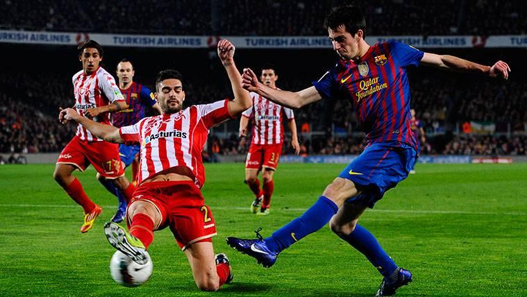 El Sporting deberá pagar 1,25 millones de euros al Barça por Alberto Botía