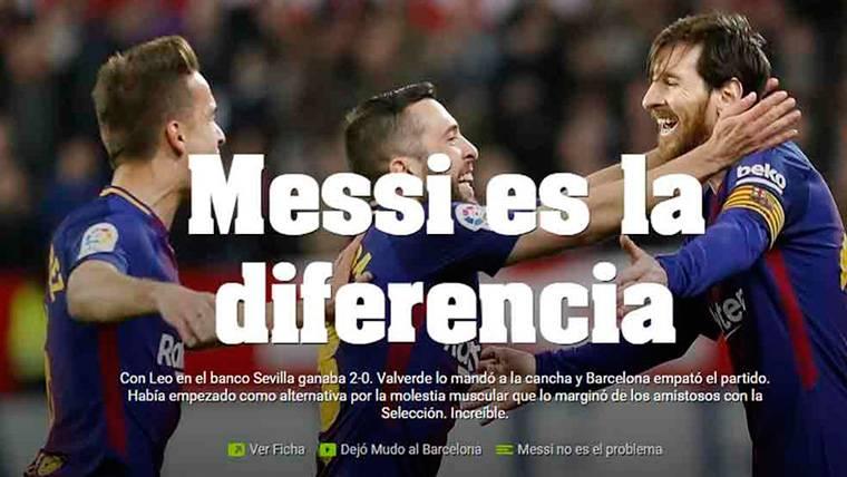 La prensa de Argentina vuelve a rendirse a Messi tras su golazo