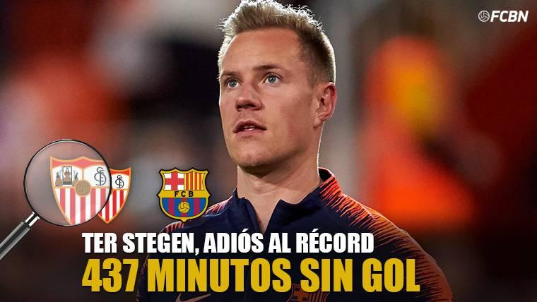 El Sevilla acaba con la mejor racha personal de Ter Stegen