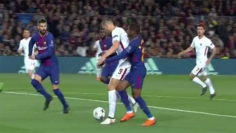 El posible penalti de Semedo que pudo complicar el Barça-Roma