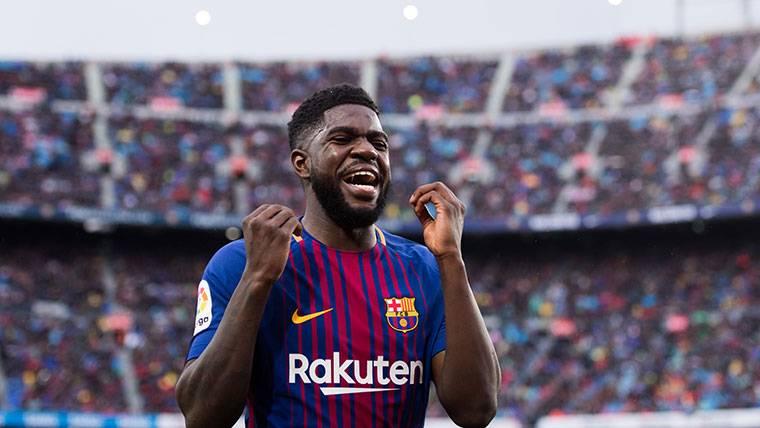 Umtiti provocó el segundo gol del Barça y se besó el escudo