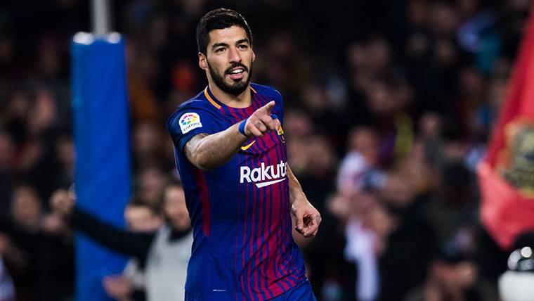 Luis Suárez se olvidó de su mala racha en Champions y sentenció a la Roma