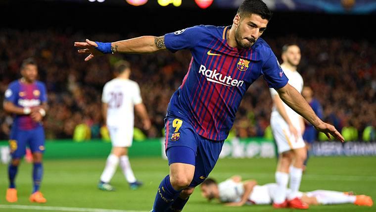 """Luis Suárez, radiante tras el gol a la Roma: """"Lo celebré con rabia"""""""
