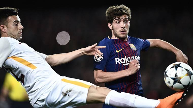 Sergi Roberto estará en el Roma-Barcelona de Champions