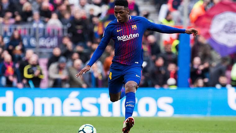 La afición reclama a Yerry Mina en el próximo once del Barça