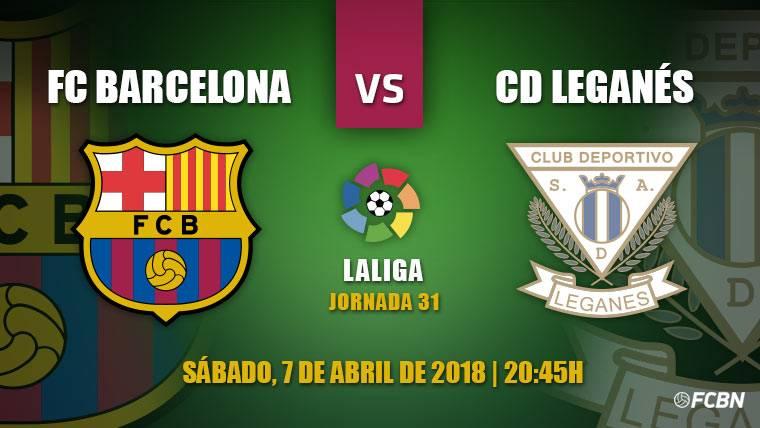 El Leganés visita en Liga a un Barça que ya piensa en la Roma