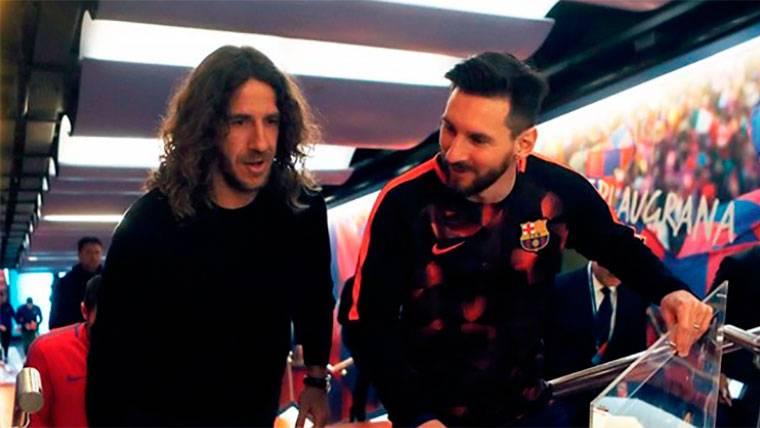 Nuevo homenaje de Carles Puyol a Leo Messi por su trayectoria