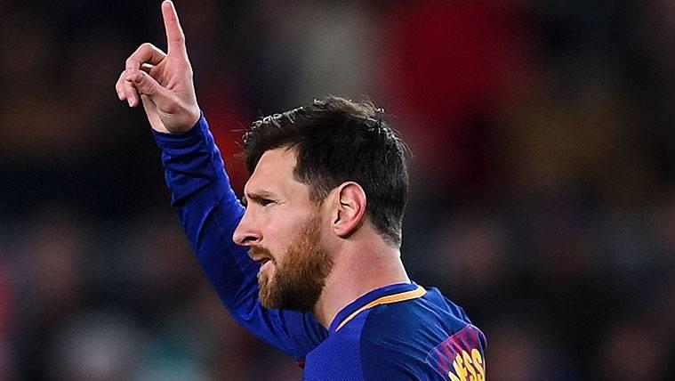Leo Messi iguala a Mohamed Salah y ya es líder en la clasificación de la Bota de Oro