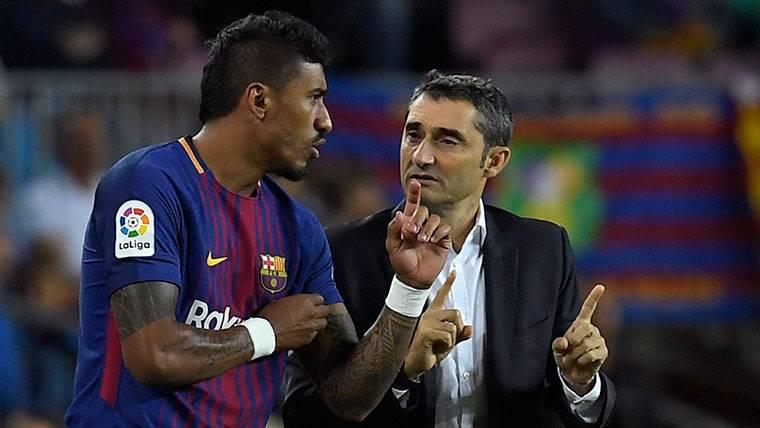 Ernesto Valverde da pistas de su estrategia con Paulinho