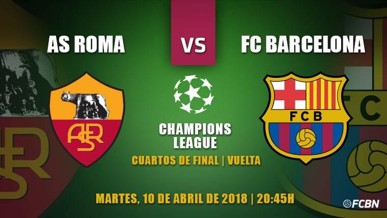 Roma-Barça: A sellar el billete hacia semifinales de Champions