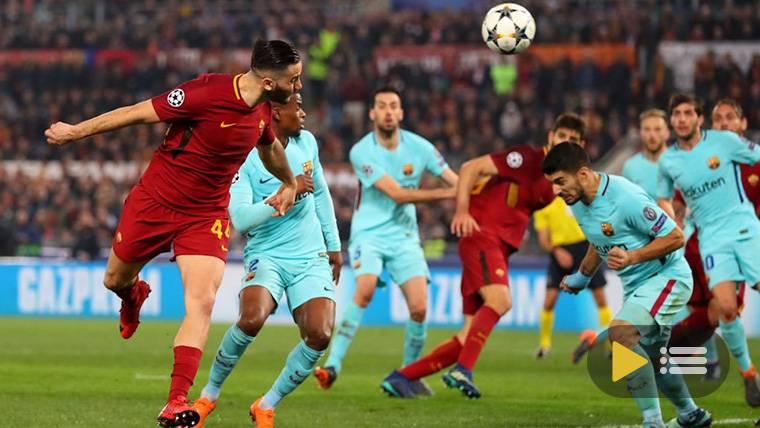 Vídeo resumen: Roma 3 FC Barcelona 0 (1/4 Champions)