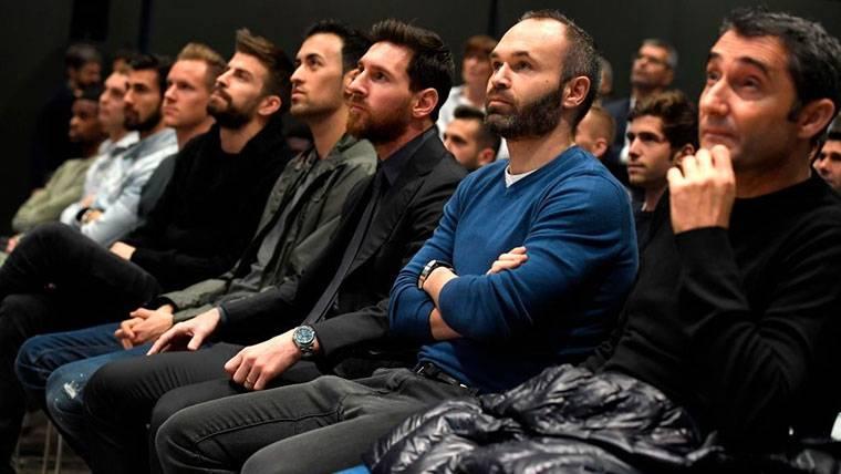 Valverde habló sobre la supuesta discusión con Messi y Piqué
