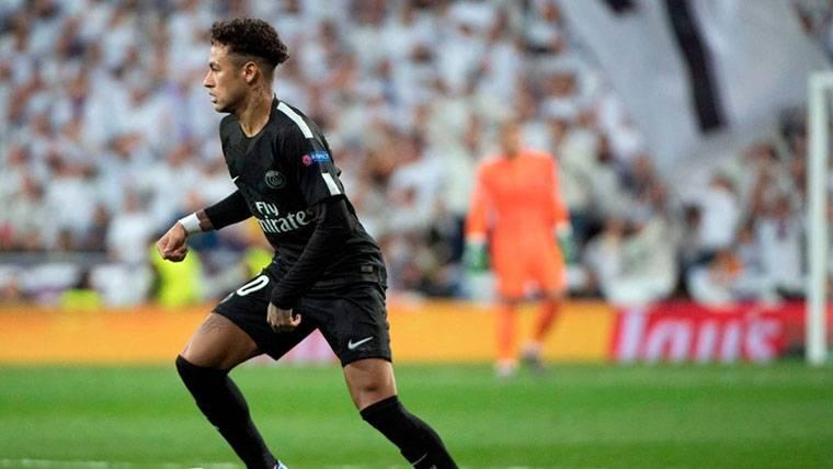 Neymar Jr, durante un partido contra el Real Madrid en Champions