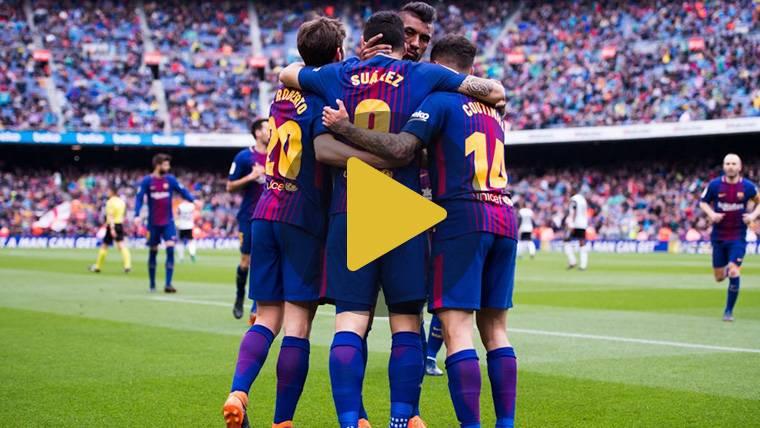 Vídeo resumen: FC Barcelona 2 Valencia 1 (LaLiga J32)