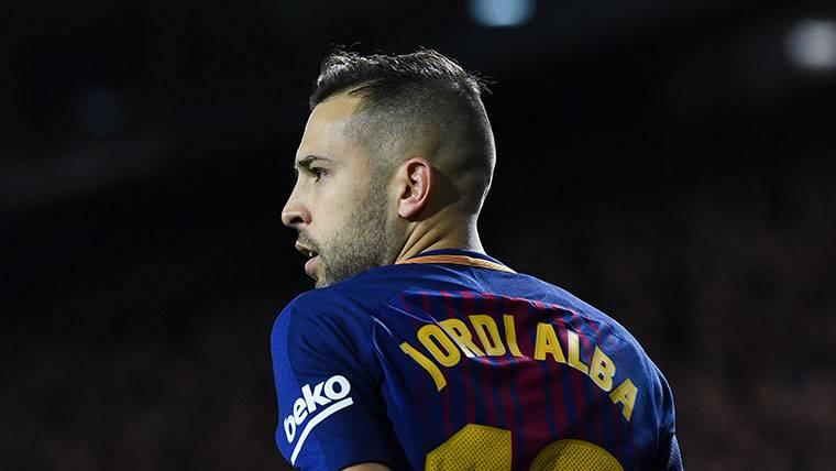 Jordi Alba, durante un partido con el FC Barcelona