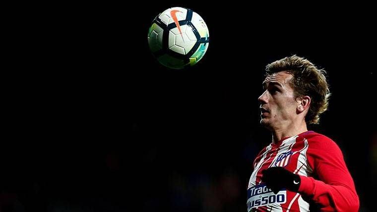 Antoine Griezmann, durante un partido con el Atlético