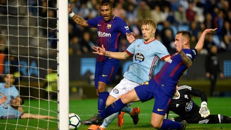 Entre Paulinho y Alcácer: Gol vital para el Barça en Balaídos