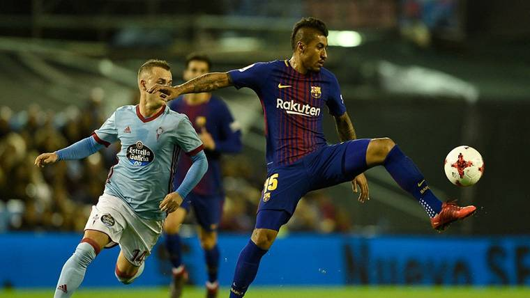 Paulinho agrandó la maldición del FC Barcelona con los palos
