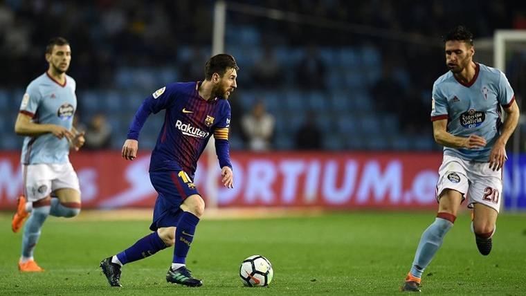 Messi, cinco campañas seguidas sin marcar al Celta en Vigo
