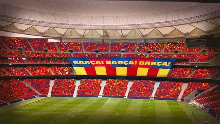 El tifo que el Barça prepara para la final de Copa del Rey