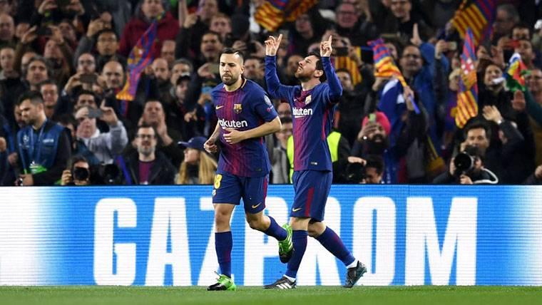 Taconazo de Jordi Alba y golazo de Messi para hundir al Sevilla