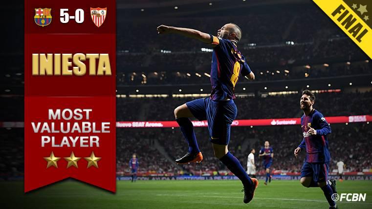 Andrés Iniesta dice adiós a la Copa del Rey con exhibición, gol y ovación