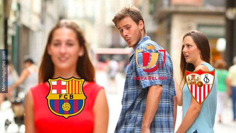 Estos son los mejores 'memes' del Sevilla-Barça de Copa del Rey