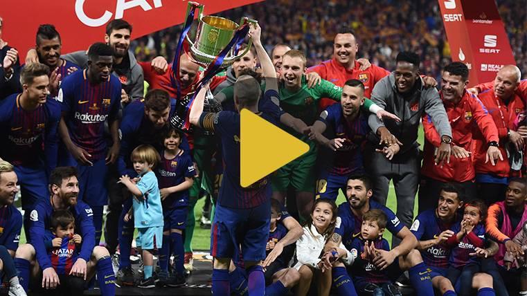 La celebración de los jugadores del FC Barcelona, ¡desde dentro!