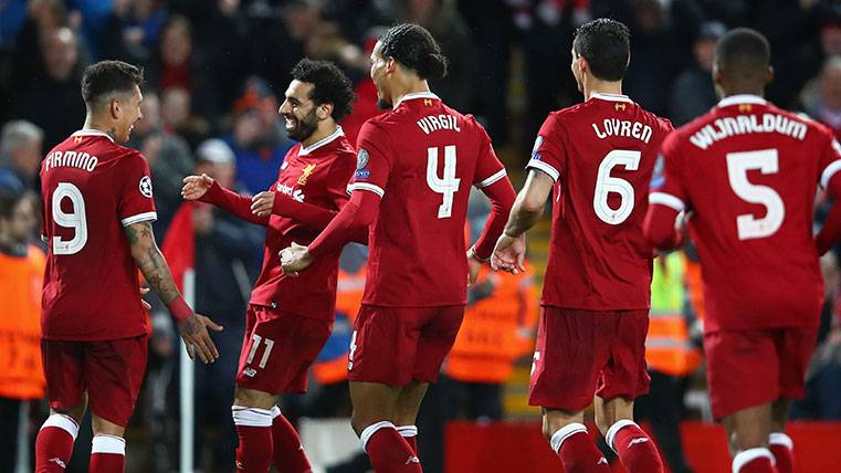 El Liverpool de Mohamed Salah golpea a una Roma que no tira la toalla (5-2)