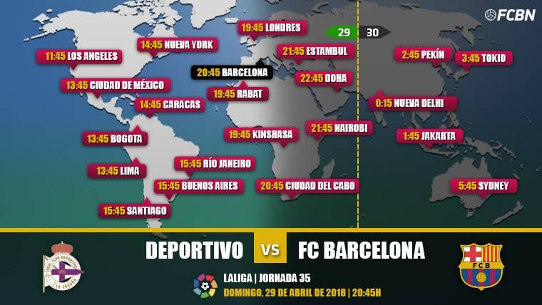 Cuándo y dónde ver el Deportivo vs FC Barcelona