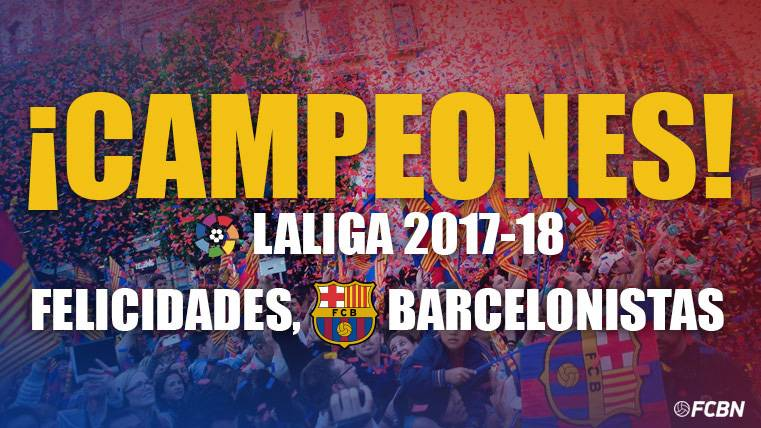 El Barcelona gana su Liga 25 y el octavo 'doblete' de su historia