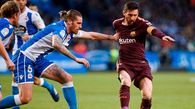 El Barcelona se echó la siesta y el Deportivo empató el partido