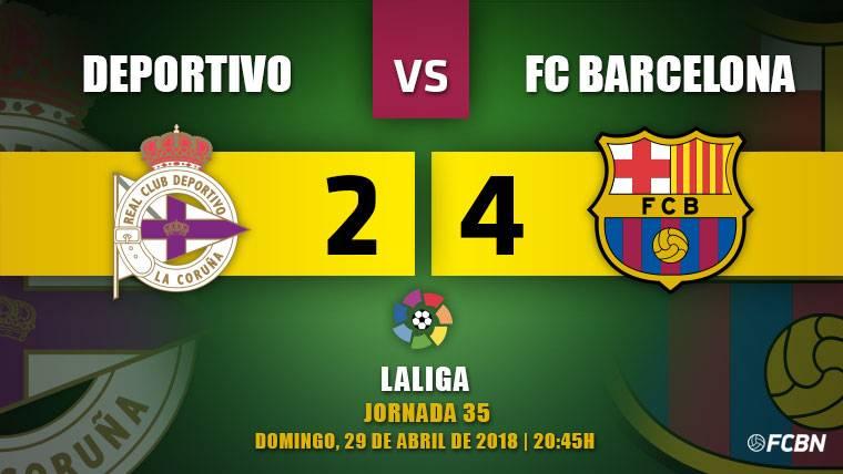 El Barça se proclama campeón de Liga y corona el 'doblete' (2-4)