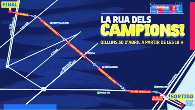 ¡Recorrido y hora de la rúa del Barça para celebrar el 'doblete'!