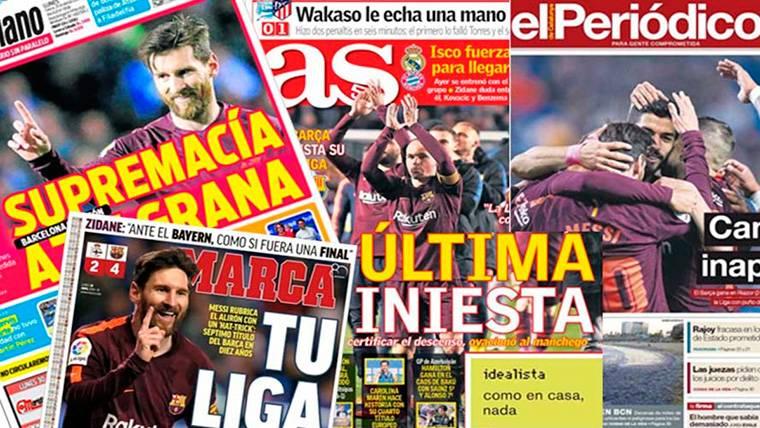 La prensa internacional se rinde al 'doblete' del FC Barcelona