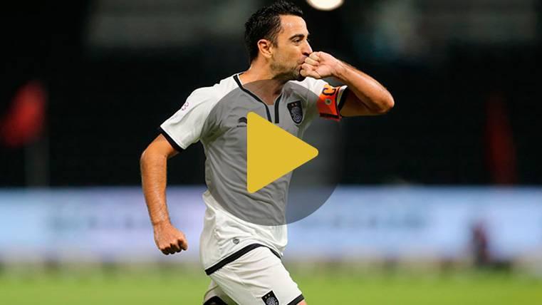 VIRAL: Xavi Hernández se luce con el balón en un reto para Youtubers