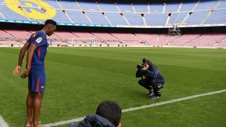 Yerry Mina, el día en que fue presentado con el FC Barcelona