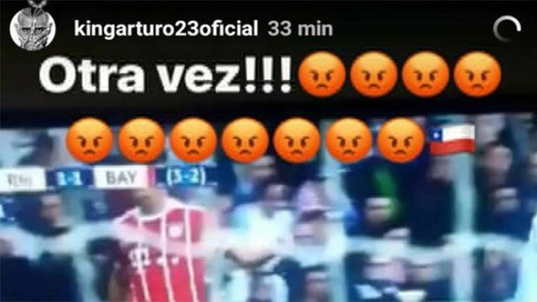 Arturo Vidal y Boateng explotan contra el árbitro Cüneyt Çakir