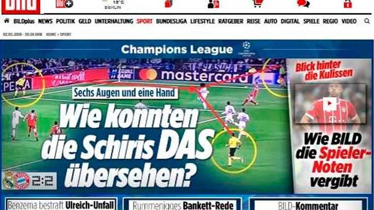 """La prensa europea estalla tras el Madrid-Bayern: """"¿Cómo los árbitros lo pasaron por alto?"""""""
