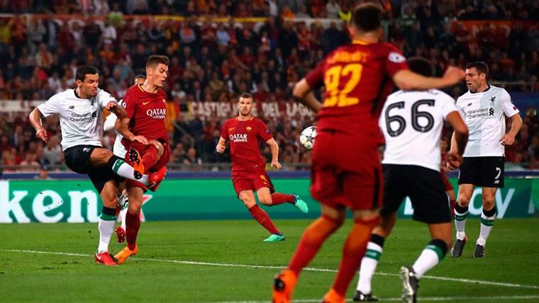 CÓMICO: El gol en propia puerta de Milner en el Roma-Liverpool