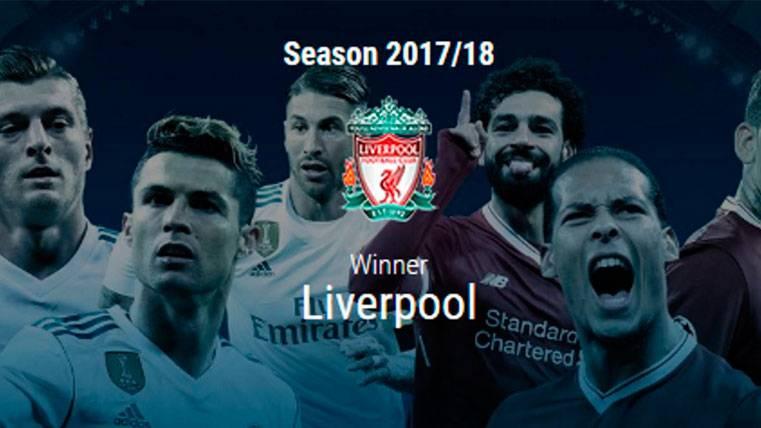 ¡La web de la UEFA da al Liverpool como campeón de la Champions 2017-18!