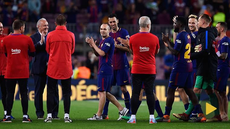 Sí hubo pasillo en el Clásico: Lo pusieron los técnicos para los jugadores del Barça