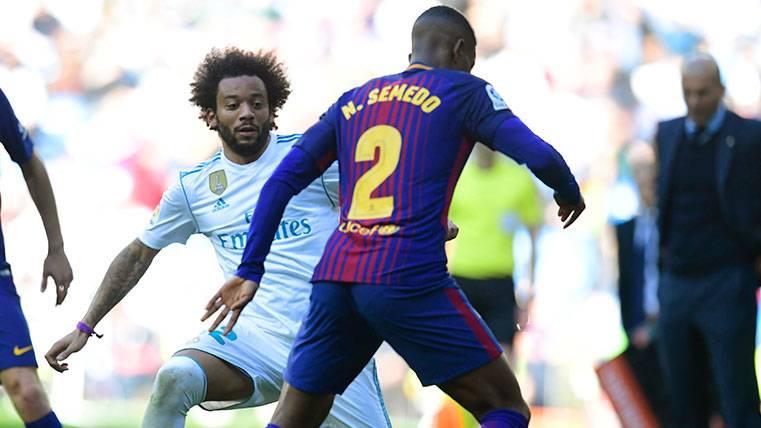 Nélson Semedo se marcó un partidazo en los 45 minutos que duró su Clásico
