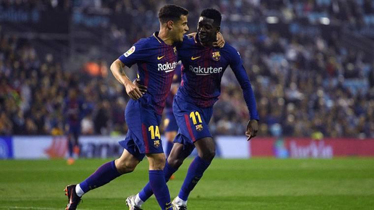 ¡Jugadón increíble de Dembélé y gol de Coutinho al Villarreal!
