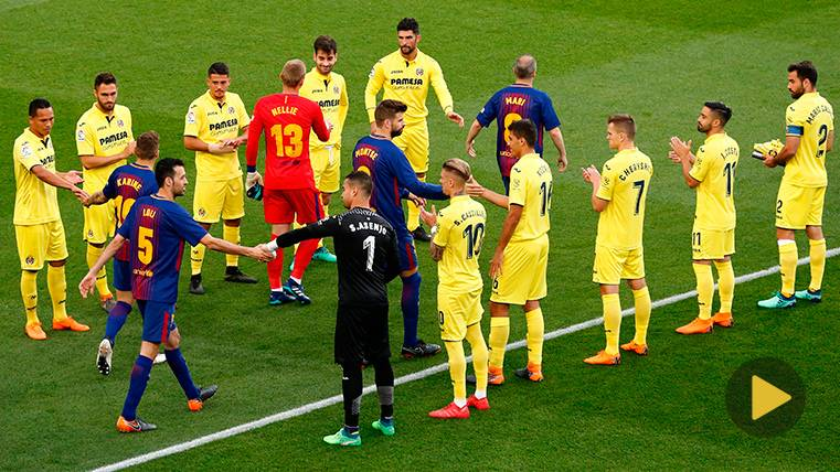 El Villarreal sí hizo pasillo al Barça: Homenaje al campeón de LaLiga
